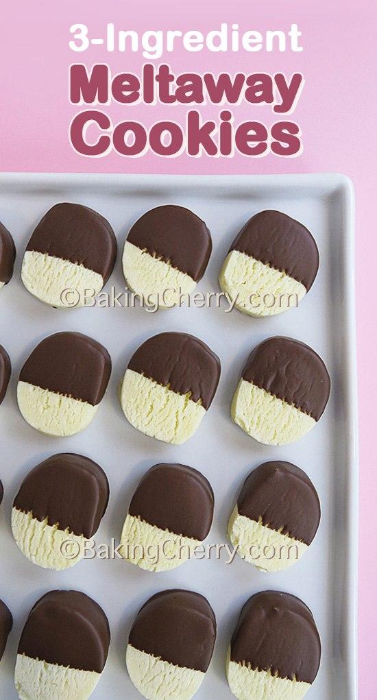 3-Ingredient Condensed Milk Meltaway Cookies - Baking Cherry