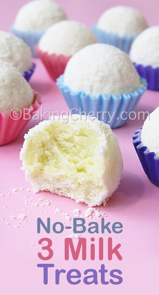 No Bake 3 Milk Treats Baking Cherry